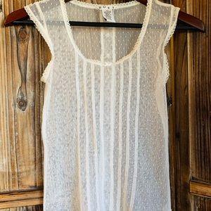 Vintage Roxy lace top XS